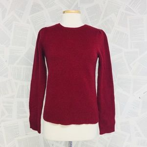 J Crew Wool Knit Pullover Sweater Red Small